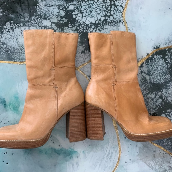 ab36d9bd1f0 Candies 90's chunky heel leather festival boots